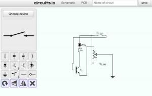 Mit circuits.io können Sie kostenlos elektrische Schaltpläne und PCB Leiterplatten online zeichnen.