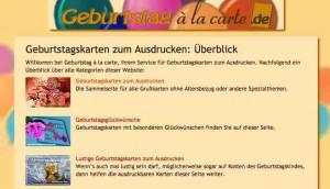 Wer Geburtstagskarten und Geburtstags-Enladungen zum kostenlos ausdrucken sucht, sollte die Seite geburtstag-a-la-carte.de unbedingt besuchen.