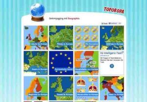 Tolle Geographie Quiz zum Thema Europa findet man auf der Webseite toporopa.eu. Zu jedem erdenklichen Thema wie Länder, Flüsse, Städte, Meere, Inseln, findet man ein passendes Quiz.