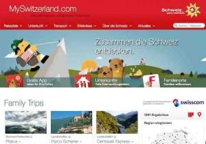Tourismus Schweiz wartet mit einer tollen Webseite mit Ideen für schlechtes Wetter oder generell für Familienausflüge an.