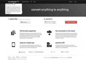 Wer eine Datei mit einem online Tool umwandeln will, kommt an Cloudconvert.org nicht vorbei. Das Webapp überzeugt durch seine Leistungsfähigkeit (140 Dateiformate werden unterstützt).