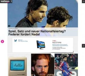 News Schweiz - Watson ist ein neuer Stern am Schweizer online Medienhimmel.