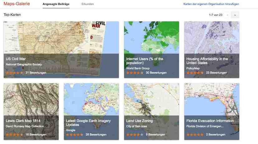 Google bietet eine einfache Möglichkeit eigene Karten zu erstelle. Nutzer erhalten so einen zentralen Anlaufpunkt für interaktive Karten.
