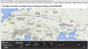 Auf Flightradar24 lässt sich die Flugroute der MH 17 nachvollziehen. Über der Region Donezker endet die Route abrupt - über der mutmasslichen Abschussstelle.