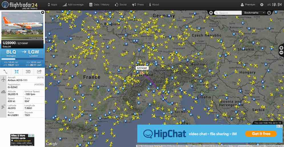 Flightradar24 Flugradar