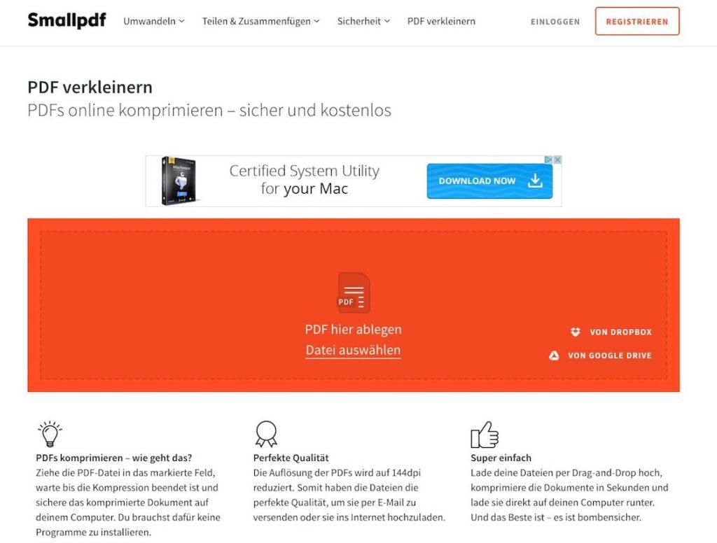 PDF online komprimieren