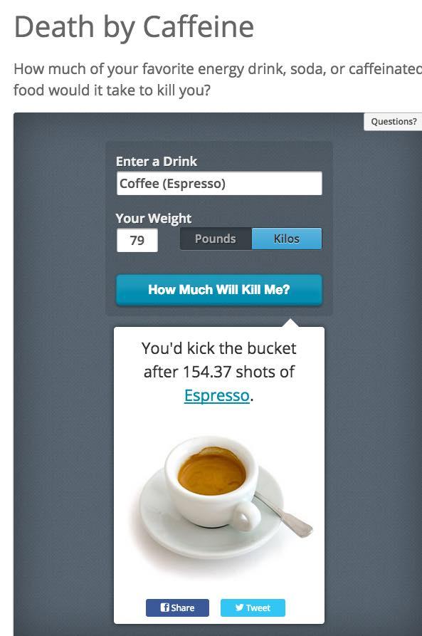 Ab wann Koffein Kafeee Dosis tödlich