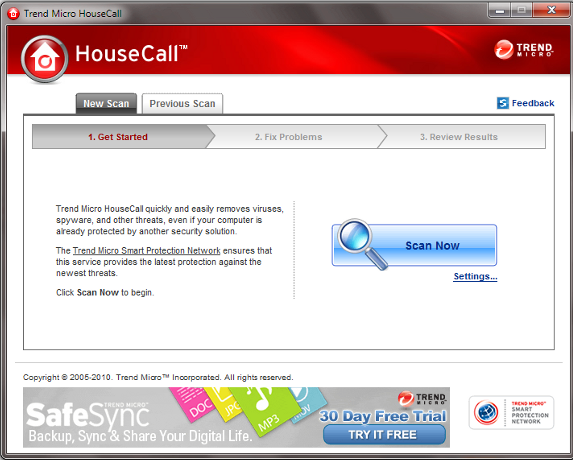 Online Virenscanner HouseCall