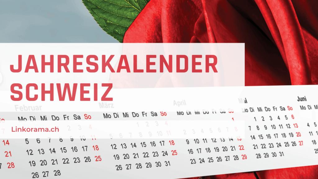 Jahreskalender Schweiz